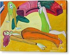 On The Floor Acrylic Print by Lyric Lucas