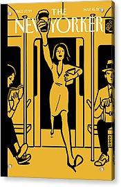 On The Go Acrylic Print by Christoph Niemann
