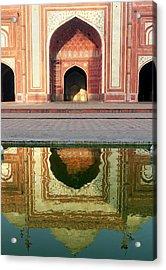 On The Grounds Of The Taj Mahal Acrylic Print by Steve Roxbury