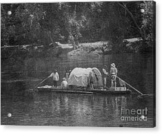 Acrylic Print featuring the photograph On The James by Pete Hellmann