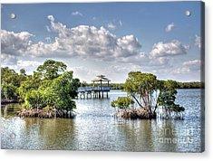 On The Lake Acrylic Print by Ines Bolasini