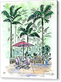 On The Lanai Acrylic Print