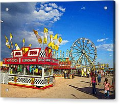 On The Midway Acrylic Print by Ric Soulen