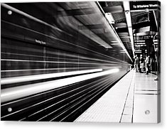 On The Move Acrylic Print by Andrew Raby