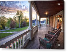 On The Porch Acrylic Print by Eric Gendron