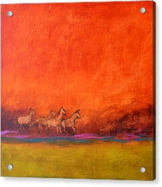 On The Range Acrylic Print by Filomena Booth
