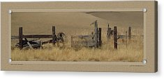 On The Range Acrylic Print