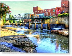 On The Reedy River In Greenville Acrylic Print