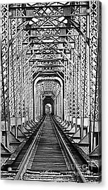On The Right Track Acrylic Print by Barbara Chichester