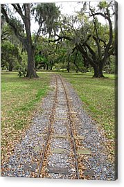 Acrylic Print featuring the photograph On The Right Track by Beth Vincent