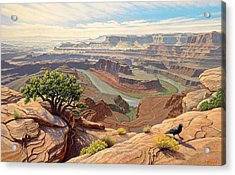 On The Rim-dead Horse Point Acrylic Print
