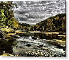 On The River Acrylic Print by Ken Frischkorn