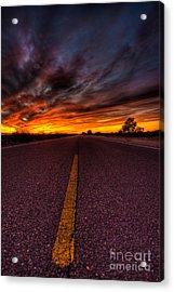 On The Road  Acrylic Print by Mark Benson