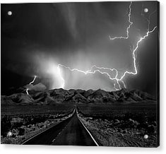 On The Road With The Thunder Gods Acrylic Print by Yvette Depaepe