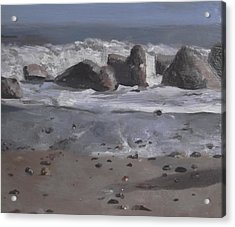 Acrylic Print featuring the painting On The Rocks by Cherise Foster