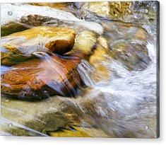 On The Rocks Acrylic Print by Edward Hamilton