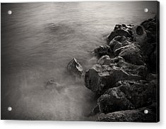 On The Rocks Acrylic Print by Fizzy Image