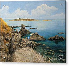 On The Rocks In The Old Part Of Sozopol Acrylic Print by Kiril Stanchev