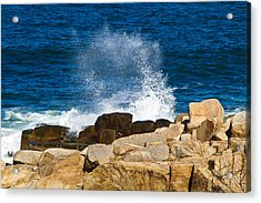 On The Rocks With A Splash Acrylic Print by John Hoey