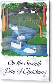 On The Seventh Day Of Christmas Acrylic Print by Tracey Harrington-Simpson