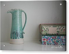 Acrylic Print featuring the photograph On The Shelf.... by Lynn England
