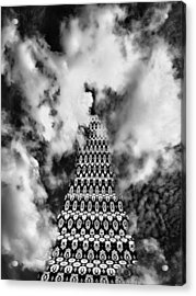 On The Stairway To Heaven Bw Palm Springs Acrylic Print by William Dey