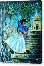 On The Streets Of Bucerias. Part One Acrylic Print