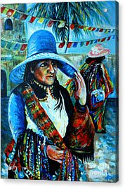 On The Streets Of Bucerias. Part Two Acrylic Print by Anna  Duyunova