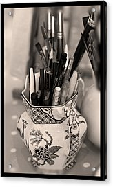 On The Studio Shelf Acrylic Print by Liz  Alderdice