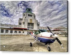 On The Tarmac Acrylic Print by Tim Stanley