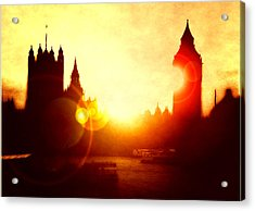 Acrylic Print featuring the digital art Big Ben On The Thames by Fine Art By Andrew David