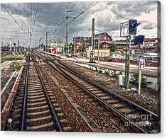 On The Tracks Acrylic Print by Gregory Dyer