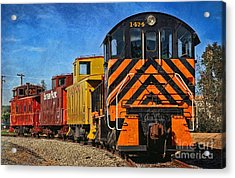 Acrylic Print featuring the photograph On The Tracks by Peggy Hughes