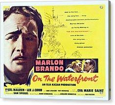 On The Waterfront, Left Marlon Brando Acrylic Print