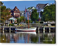 On The Waterfront Acrylic Print by Mel Steinhauer