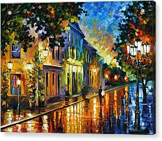 On The Way To Morning Acrylic Print by Leonid Afremov