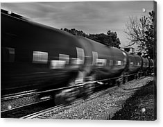 Acrylic Print featuring the photograph On Time by Jon Exley