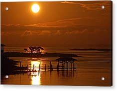 Acrylic Print featuring the digital art On Top Of Tacky Jacks Sunrise by Michael Thomas