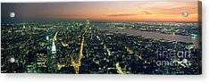 On Top Of The City Acrylic Print by Jon Neidert