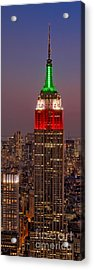 On Top Of The Rock Acrylic Print by Susan Candelario