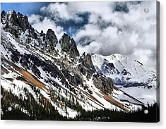 On Top Of The Rockies Acrylic Print by Rebecca Adams