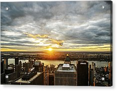 Acrylic Print featuring the photograph On Top Of The World  by Anthony Fields