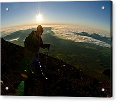 On Top Of Things Acrylic Print by Aaron Bedell