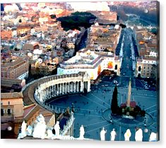 Acrylic Print featuring the digital art On Top Of Vatican 1 by Brian Reaves