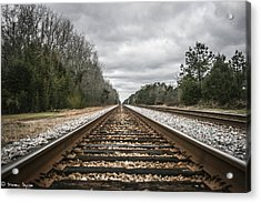 On Track Acrylic Print by Steven  Taylor