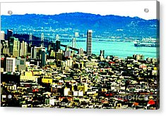 On Twin Peaks Over Looking The City By The Bay II Acrylic Print by Jim Fitzpatrick