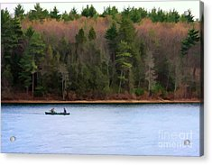 On Walden Pond Acrylic Print by Jayne Carney