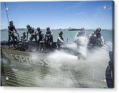 Onboard Etnz Nzl5 Acrylic Print by Chris Cameron