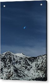 Once In A Blue Moon Acrylic Print by Mitch Shindelbower