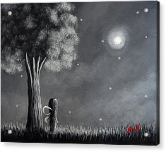 Once Upon A Dreamy Night Original Fairy Art Acrylic Print by Shawna Erback